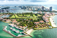 Aerial photo of Fisher Island, Miami